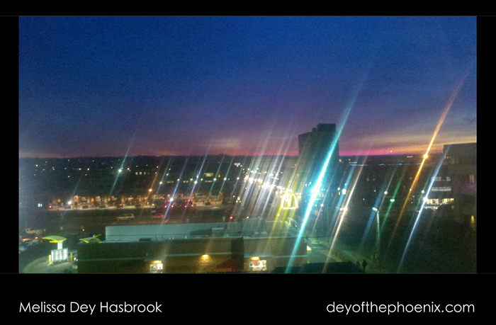 Dawn from the Park Trades Center Kalamazoo, Michigan