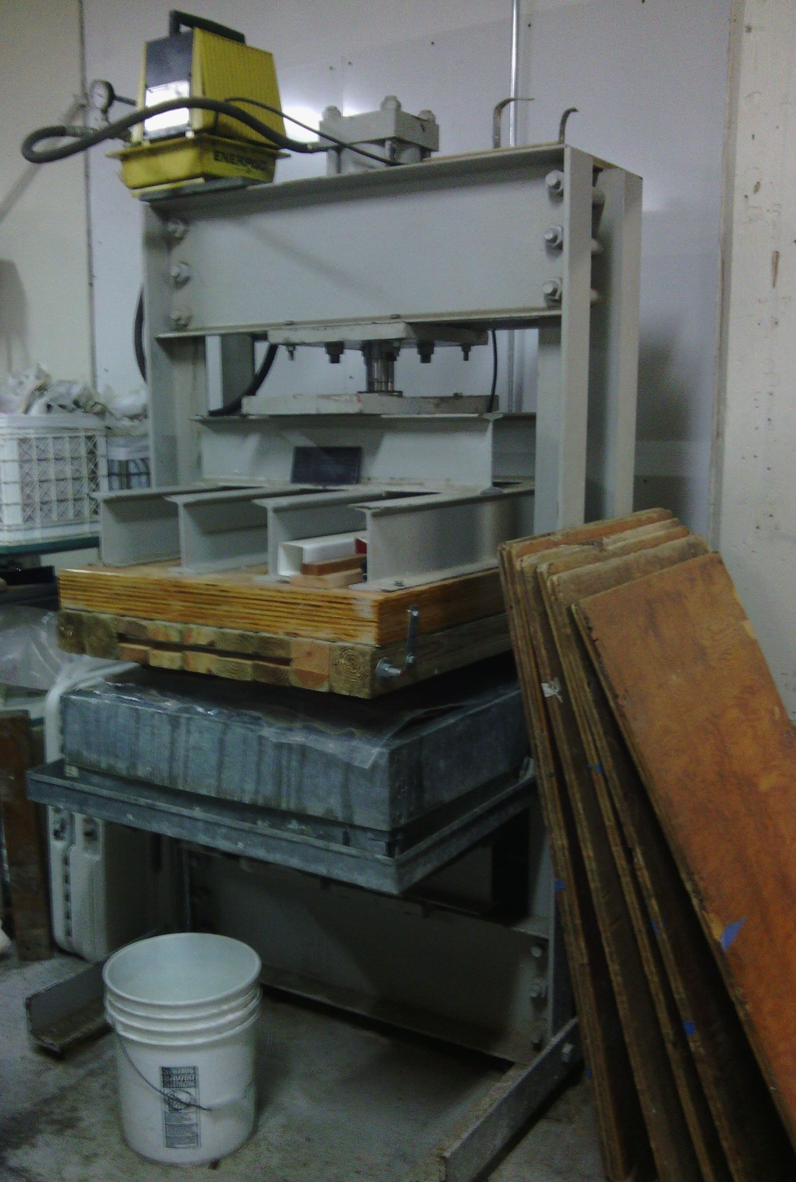 One of the presses for paper making at the Kalamazoo Book Arts Center, where I've been taking classes. My studio is is in the same building -- the Park Trades Center.