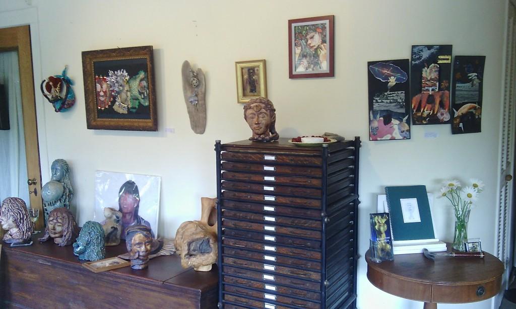 Goddess Art Show at Marcia Perry's Art Studio, Saugatuck, MI. August 2014.