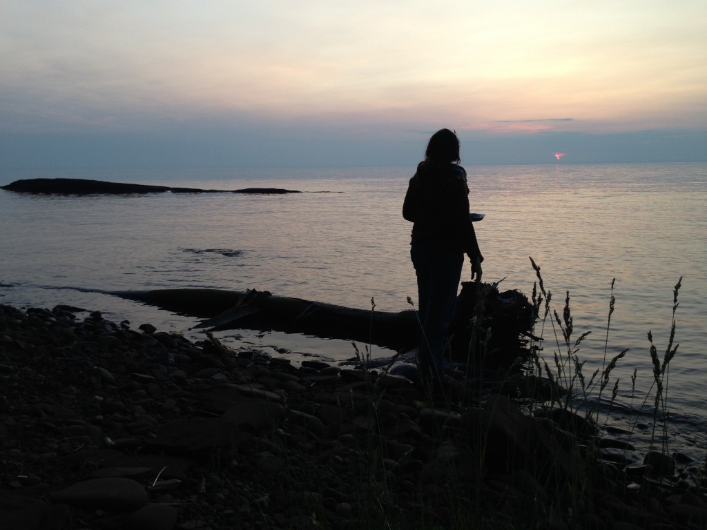 While watching sunset on Lake Superior at the Porcupine Mts. Photo by Jeff Nixa.