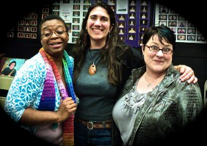 """Chey, myself, and Claire at """"Light in the Dark."""""""