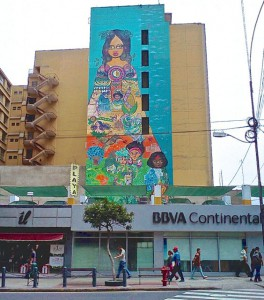 Mural in the Historic District of Lima.