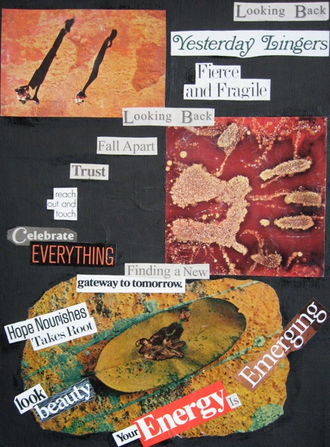 Found-poem collage by Mey. January 2014.