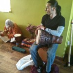 Musicians supporting the workshops, Vento and Ale.