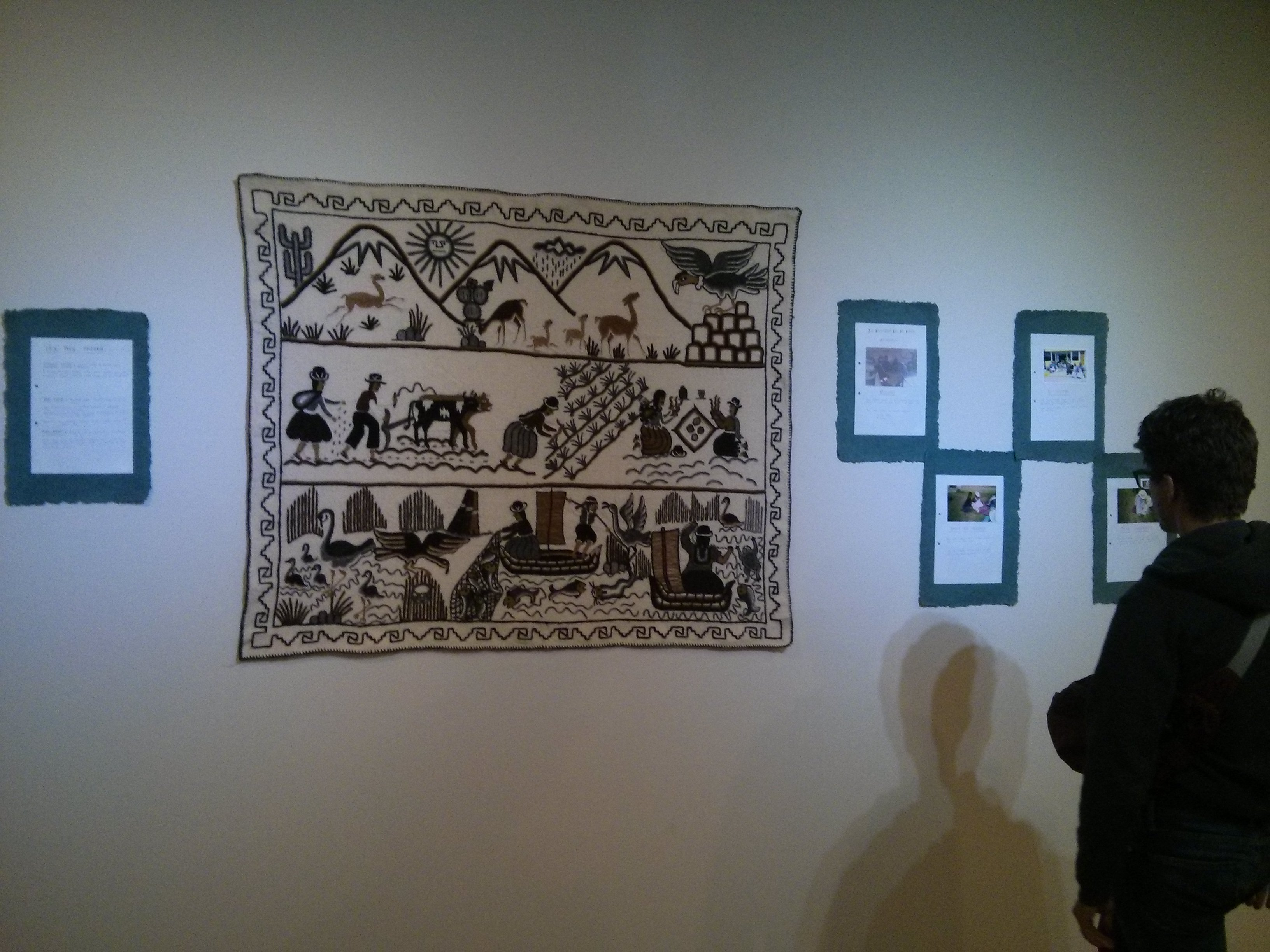 "Commissioned ""bordado"" (embroidery) work by Bartolinas de Olla-Juli (Puno), a women's artisenal association in collaboration with Peruvian feminist agency Movimiento Manuela Ramos."